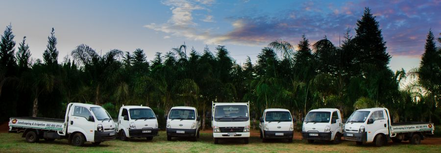 Our fleet of vehicles for garden installation