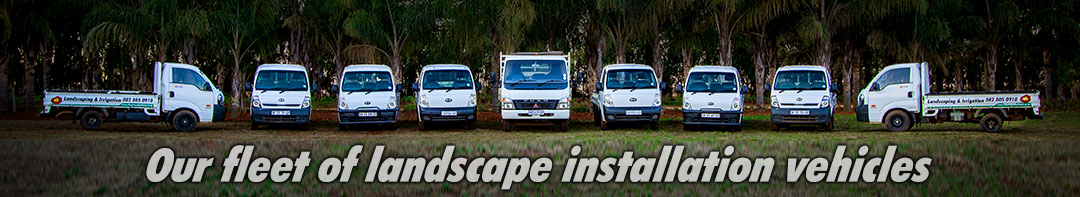 Our fleet of landscape installation vehicles