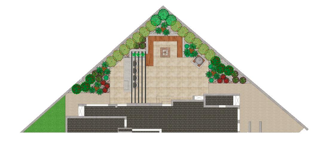 Garden landscape design example