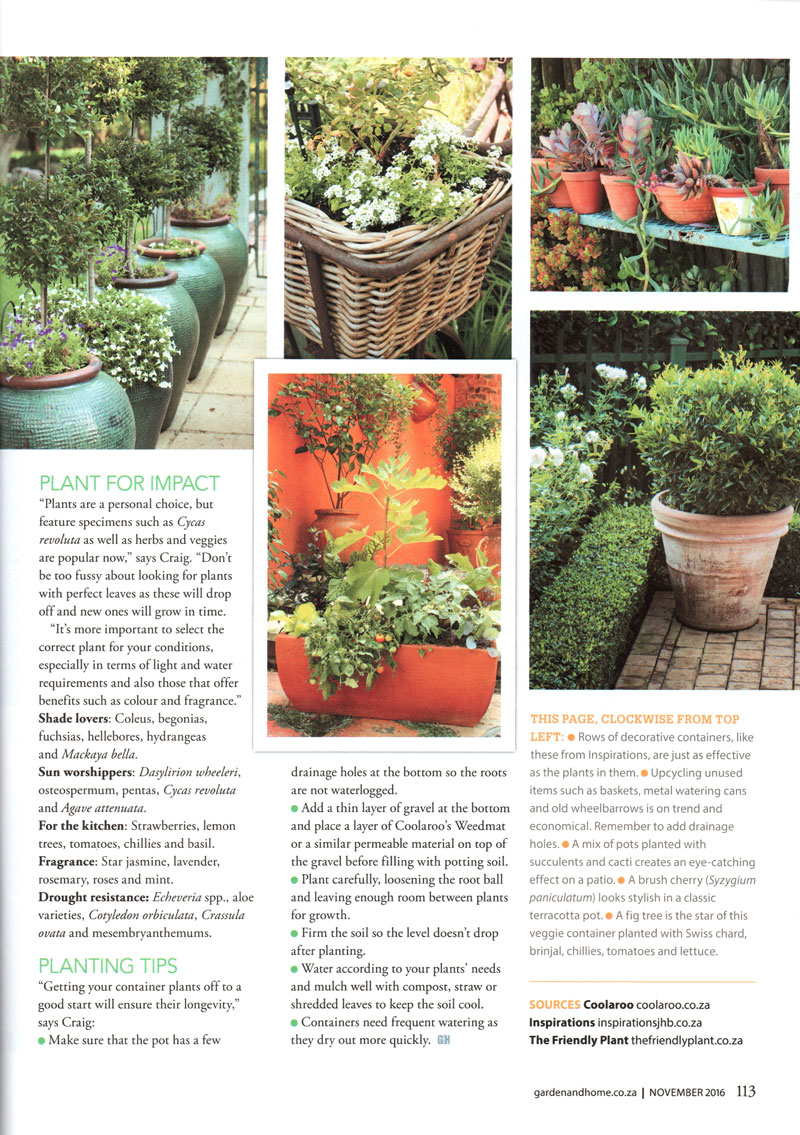 The Friendly Plant - Landscaper Media Coverage