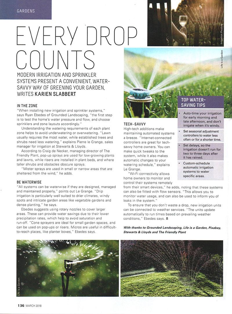 The Friendly Plant - Landscaper Media Coverage